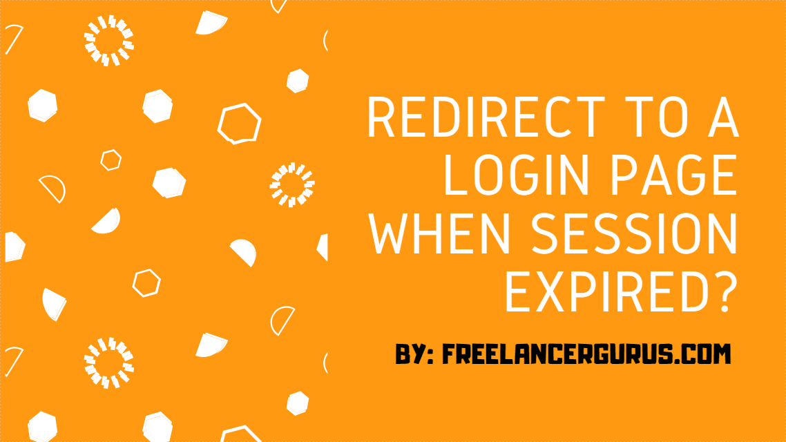 redirect to login page when session expired Laravel